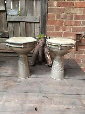 More details for 2 x darbuka doumbek hammered drums with 10