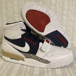 Nike Air Jordan Legacy 312 Dream Team Olympic Shoes AV3922 101 White Navy Red