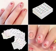 50 Sheets Flowers Finger Toe Nail Art Water Transfer Decals Stickers DIY Decor