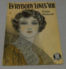 Vintage 1928 Sheet Music Ev'rybody Loves You Al Dublin Little Jack Little