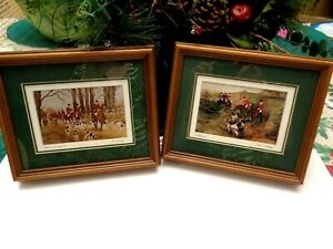 TWO PAT WHIPP 1990 FRAMED SMALL SIZE HUNT SCENE PRINTS, ARTISTS PROOFS, SIGNED W