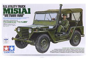 Tamiya 1/35 U.S. M151A1 Vietnam War Ford Utility Truck Scaled Plastic Model Kit