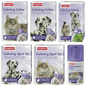 Beaphar Dog Puppy Cat Kitten Calming Spray Spot On Collar Tablets Reduces Stress