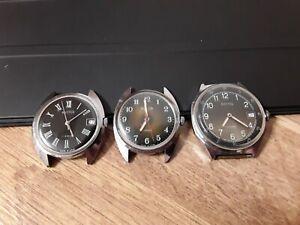 3 pcs. USSR watch Vostok Vintage Wristwatch Wostok.Working. Not serviced