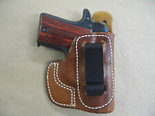 IWB CCW Molded Leather Concealed Carry Holster For Springfield 911 .380 TAN RH