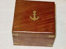 Vintage Brass Nautical Marine Navigation Sextant w Original Wood Box