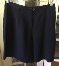 LIZ CALAIBORNE STUDIO WOMENS DRESS SHORTS NAVY BLUE SIZE 14