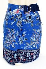 Tommy Hilfiger Blue Floral Wrap Around Skirt with Belt Women's Small S NWT