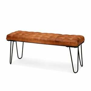 Bench Luxury Handmade 100% Handcrafted Genuine Leather Bench