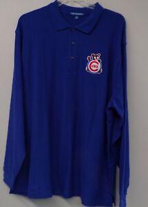 Chicago Cubs 1970 Logo Mens Long Sleeve Polo XS-6XL, LT-4XLT