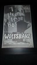 Wolfsbane I Like It Hot Rare Original Radio Promo Poster Ad Framed!