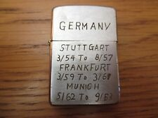ZIPPO vintage 1963 Vietnam Era tour of duty Germany Korea War lighter