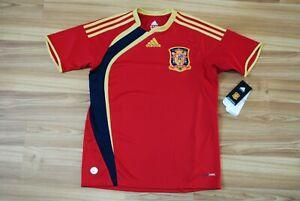 13-14 YEARS L SPAIN 2009-2010 NATIONAL TEAM HOME FOOTBALL SHIRT JERSEY KIDS BOYS