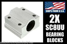 2-pack SC8UU Linear Bearings for 8mm Shafts, LM8UU with Pillow Blocks for CNC