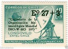 Chile 1974 #833 Sobrecarga Centenario Organizacion Meteorologica Mundial MNH