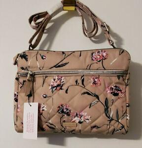 Vera Bradley Strawflowers Triple Compartment Crossbody Bag--NWT--beautiful!