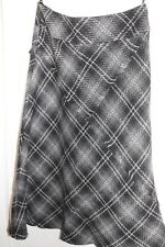 M&S Autograph Tweed Skirt, Size 12, Black White Grey Check