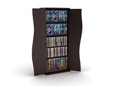 Media Storage Cabinet DVD CD Shelf Rack Organizer Tower Shelves Multimedia Games
