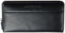 Brown Bear Geldbörse Damen NappaLeder schwarz Reißverschluss Frauen Portemonnaie