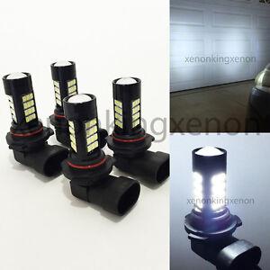 Combo 9006-HB4 9005-HB3 Samsung LED 42 SMD High/Low Beam White #x5 Light Bulbs