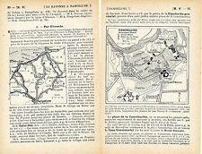 Pamplona Pampelune 1915 peq. mapa ciudad orig., carta + guía fr. (10 p) Elizondo