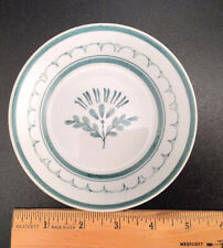 Vintage ARABIA Finland, GREEN THISTLE, 5-inch Berry Bowl, Hand Painted