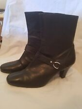 Womens Heel Booties Ankle Boots side zippers.