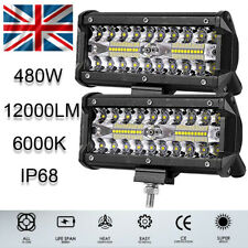 12V LED Work Light Bar Flood Spot Lights Driving Lamp Offroad Car Truck ATV SUV