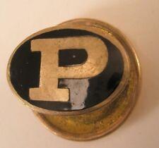P Logo Vintage Lapel Pin Tie Tack member corporate logo image initial monogram