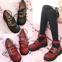 New Vintage JK Uniform Shoes Cute Lolita Janpaese Student Kawaii Mary Jane Shoes