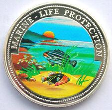 Somalia 1998 Tiger Fish 25 Shillings Colour Silver Coin,Proof
