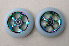 DIS 100mm Smoked Slicks Metal Core Scooter Wheels(2 Wheels) w/ABEC-11 Bearings