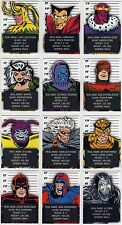 2015 Marvel Avengers Silver Age Classic Villains chase card set (12 cards)