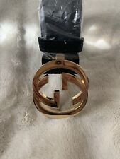 288c889a2a2 New listingUNISEX BLACK GUCCI BELT (ONE SIZE) 115CM GOLD DOUBLE G BUCKLE  BRAND NEW
