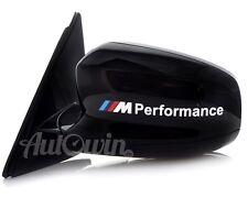 BMW X6 Series E71 E72 F16 /// M Performance White Sticker Logo Emblem 2x pcs.