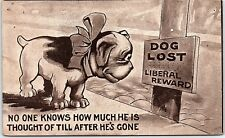 Postcard Dog Lost Liberal Reward No One Knows How Much He Is Thought Of... AB45
