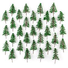 50pcs Green Cedar Trees Model Pine tree for Park Railway Scenery HO N Scale 10cm
