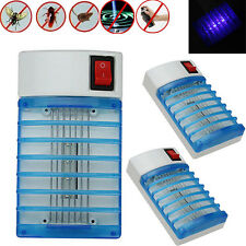 3 Lot LED Electric Mosquito Fly Bug Insect Trap Zapper Killer Night Lamp USA