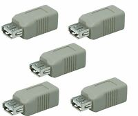 5x USB 2.0 Type A Female to USB2 Type B Female Adapter Connector Coupler Extend