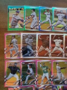 2021 Topps Chrome Lot (203) #/99, RC, Xfractor- DeGrom, Yelich, Adell, Ohtani