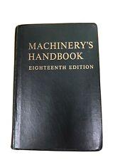 Machinery's Handbook Eighteen Edition 1970 Green