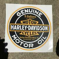 "Motorcycle Decals / Gas Pump Stickers / Gas & Oil Advertising / 8"" x 8"""