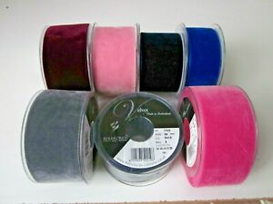 Berisfords Velvet Ribbon - 50mm-Top Quality-Sewing-Crafts-Party-Fast Dispatch