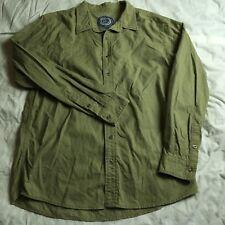 Life Is Good Soft Cotton Button Front Shirt L/S Multi Color Striped Mens Size L