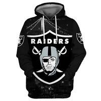 Las Vegas Raiders Hoodies 3D Printed Sweatshirts Pullover Hooded Jacket Coat Top