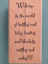 Welcome to the World of Bottles and Bibs, Booties...MY SENTIMENTS EXACTLY Baby