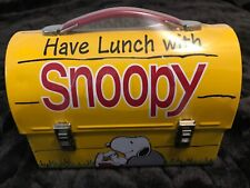 """HAVE LUNCH WITH SNOOPY"" MINIATURE HALLMARK METAL LUNCHBOX LIMITED EDITION"