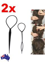 2PCS Hair Styling Clip Topsy Tail Braid Ponytail Maker Tool