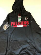 Nike Atlanta Falcons NFL Therma-Fit Sideline Black Hoodie Mens Size XL