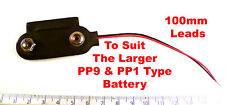 Good Quality PP9 and PP1 100mm Black and Red Battery Lead Snap On OM1157